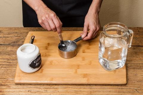 Mix Citric Acid and Water