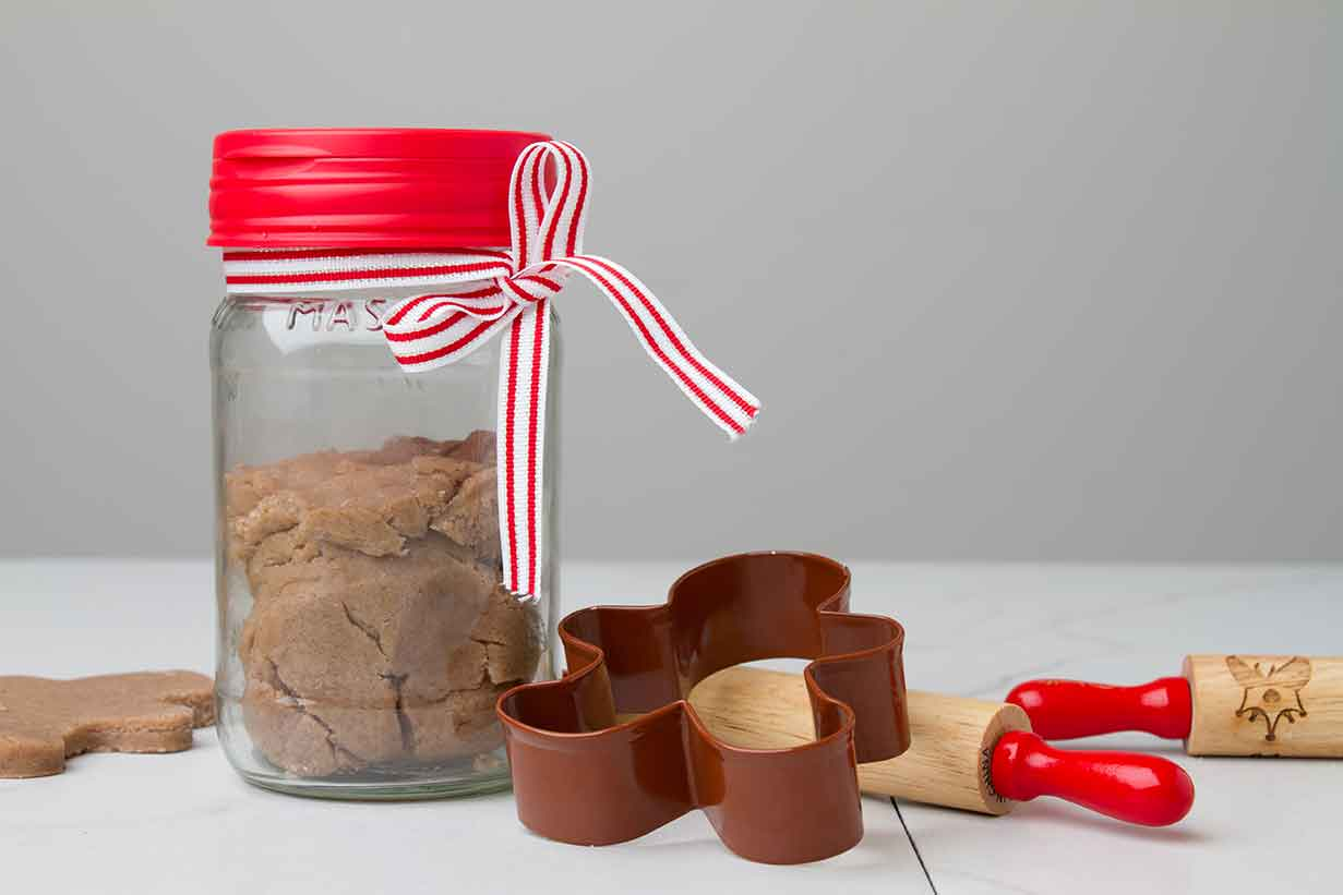 Gingerbread Playdough in a Mason Jar
