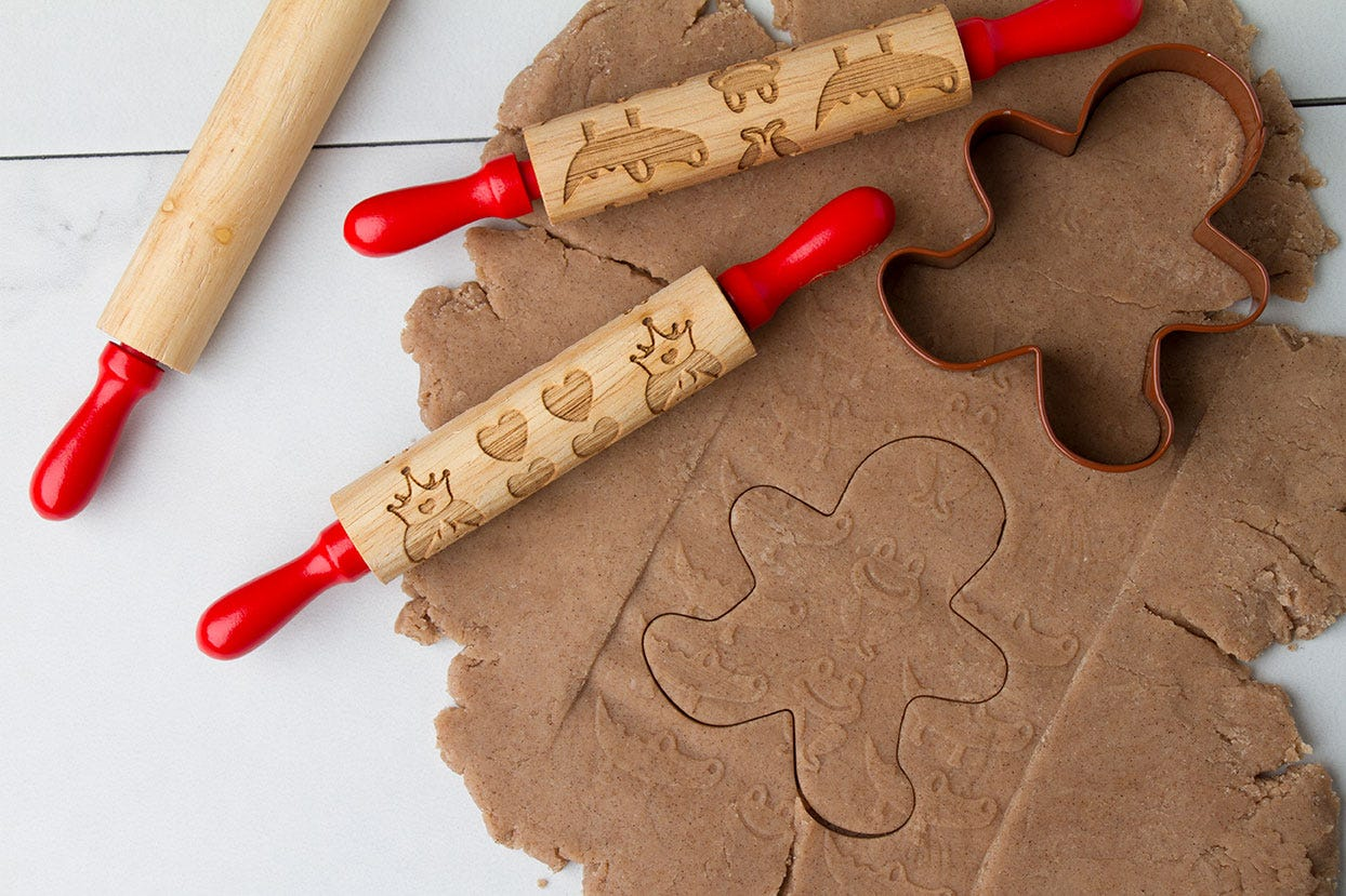 Rolling Pins and Gingerbread Cut Out