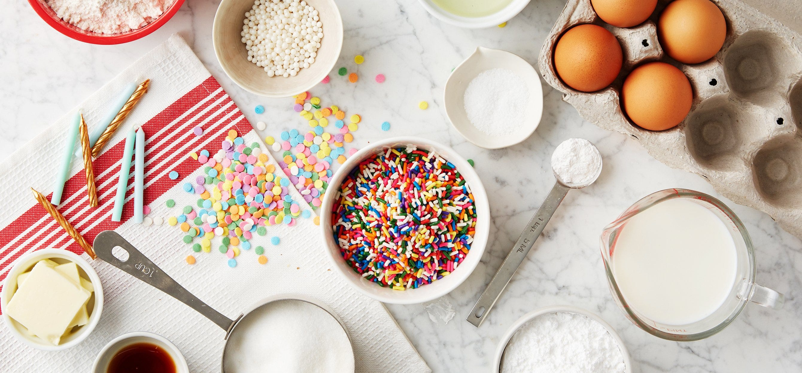 CELEBRATION CUPCAKES WITH COLORFUL SPRINKLES