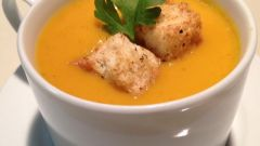 Curried Butternut Squash and Pear Soup