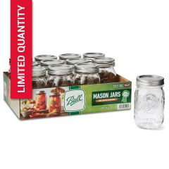 Ball® Canning Jars with Lids 16 Ounce Regular Mouth Mason Jars | Case of 12