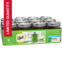 Ball® Canning Jars with lids 16 Ounce Wide Mouth Mason Jars | Case of 12