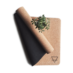 [standard] earth is home, natural cork yoga mat