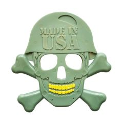 USA-K9 by SodaPup Skull & Cross Bones Shaped Ultra Durable Nylon Dog Chew Toy for Aggressive Chewers, Guaranteed Tough, Non-Toxic, Reduces Boredom and Problem Chewing, Made in USA, Green, Large