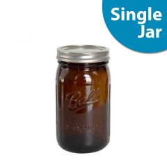 Amber Ball® Mason Jars | 32 ounce Quart | Wide Mouth | Single Jar
