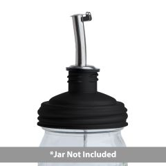 reCAP® Mason Jar Pour Spout Lid & Tap, Regular Mouth | Black