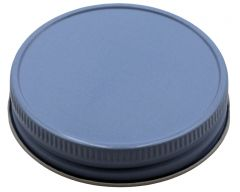 Baby Blue Metal Storage Lids for Regular Mouth Mason Jars, 12-Pack