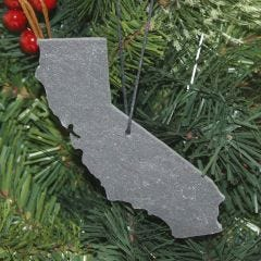 State Slate Christmas Ornaments