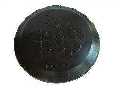 SodaPup - Natural Rubber Magnum Bottle Top Flyer - Dog Flying Disc - Fetch Toy - Tough Rubber for the most Aggressive Chewers - Black - Large - Made in USA
