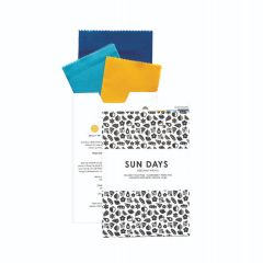 Sun Days Goods Beeswax Wraps 3-pack - Belize (Yellow, Blue, Deep Blue)