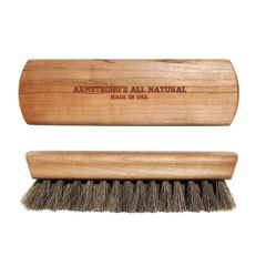 Armstrong's Genuine Natural Wood & Horsehair Buffing Brush