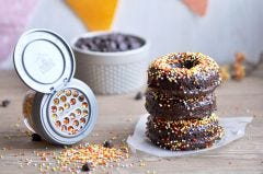 Chocolate Maple Zucchini Donuts with reCAP Mason Jars