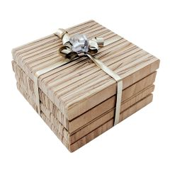 Veneer Wood Coasters - Set of 4