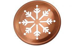 Snowflake Pattern Copper Lid Inserts for Regular Mouth Mason Jars, 10-Pack