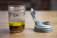 White Fig Balsamic Vinaigrette Recipe in a Mason Jar