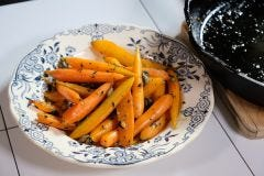Homemade Cooked Carrots With Capers and Parsley Recipe