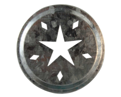 Star Cutout Galvanized Metal Lid Inserts for Regular Mouth Mason Jars, 10-Pack