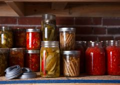Mason jars used for canning