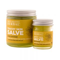 touchy skin salve in 2 sizes