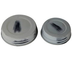 Antique White Shabby Chic Mason Jar Lids, 4-Pack
