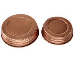 Shiny Copper Decorative Mason Jar Lids, 4-Pack