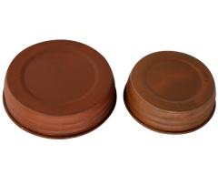 Rusted Vintage Reproduction Mason Jar Lids, 4-Pack