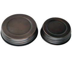 Oil Rubbed Bronze Vintage Reproduction Mason Jar Lids, 4-Pack