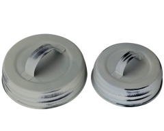 Antique White Handle / Canister Lids for Mason Jars, 4-Pack