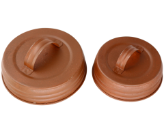 Rusty Handle / Canister Lids for Mason Jars, 4-Pack