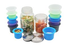 Mason Jar Divider Cup for Salads, Dips, and Snacks for Wide Mouth Mason Jars