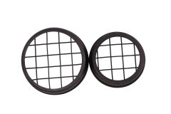 Oil Rubbed Bronze Flower Organizer Frog Lid with Square Grid for Mason Jars, 3-Pack