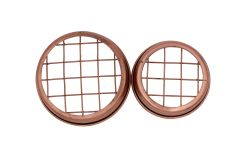 Shiny Copper Flower Organizer Frog Lid with Square Grid for Mason Jars, 3-Pack