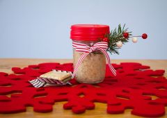 Peppermint Sugar Scrub in a Mason Jar