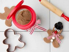 Gingerbread Play Dough in a Mason Jar