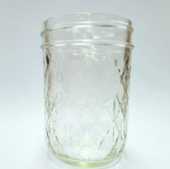 8 Ounce Regular Mouth Quilted Ball Mason Jar (No Lids) | Case of 12