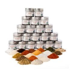 Ultimate Artisan Seasoning and Gourmet Sea Salt Collection - 20 Tins