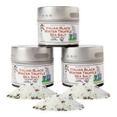 Black Truffle Sea Salt Collection - 3 Tins