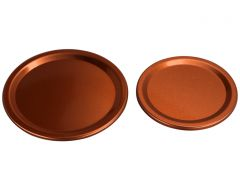 Copper Flat Storage Lid Inserts for Mason Jars, 10-Pack