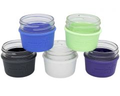 Silicone Sleeves for 4oz Mason Jars, 2-Pack