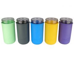 Silicone Sleeves for Pint & A Half Ball Mason Jars, 2-Pack