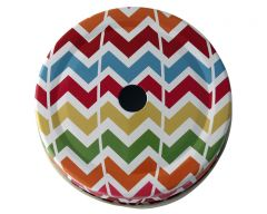 Multi Color Chevron Straw Hole Tumbler Lids for Regular Mouth Mason Jars, 10-Pack