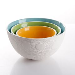 Nesting Textured Bowls Set of 3