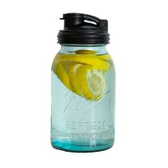 Ball® Mason Jar Aqua Vintage | 32ounce Quart |  Regular Mouth | Single Jar & reCAP Pour Carry Lid