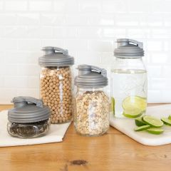 NEW reCAP® Mason Jar POUR Lid, Regular and Wide Mouth, Set of 4