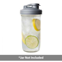 reCAP POUR CARRY Lid ontop a  Ball Mason Jar.