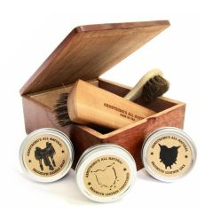 Armstrong's Reclaimed Cigar Box Shoe Shine Kit