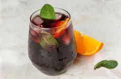 Red Wine Winter Spritzer
