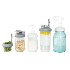 reCAP Mason Jar Lids Starter Set Including Jars