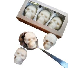 Edible Vegan Sugar Skulls - 3 Pack